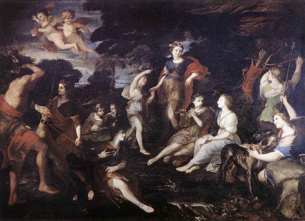The Hunt Of Diana 1638-39 | Andrea Camassei | Oil Painting