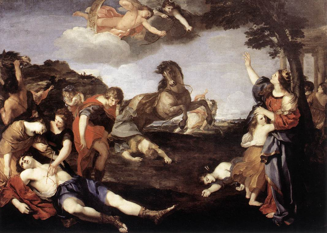 The Massacre Of The Niobids 1638-39 | Andrea Camassei | Oil Painting