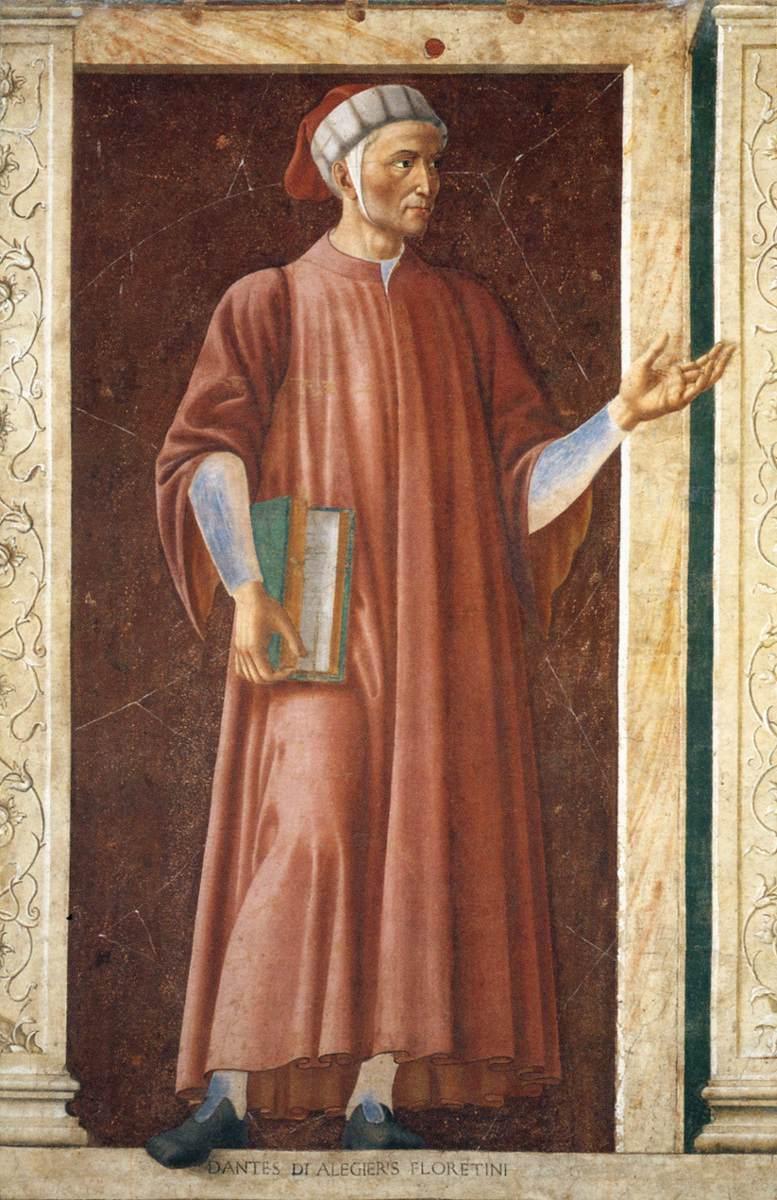 Famous Persons Dante Allighieri | Andrea Del Castagno | Oil Painting
