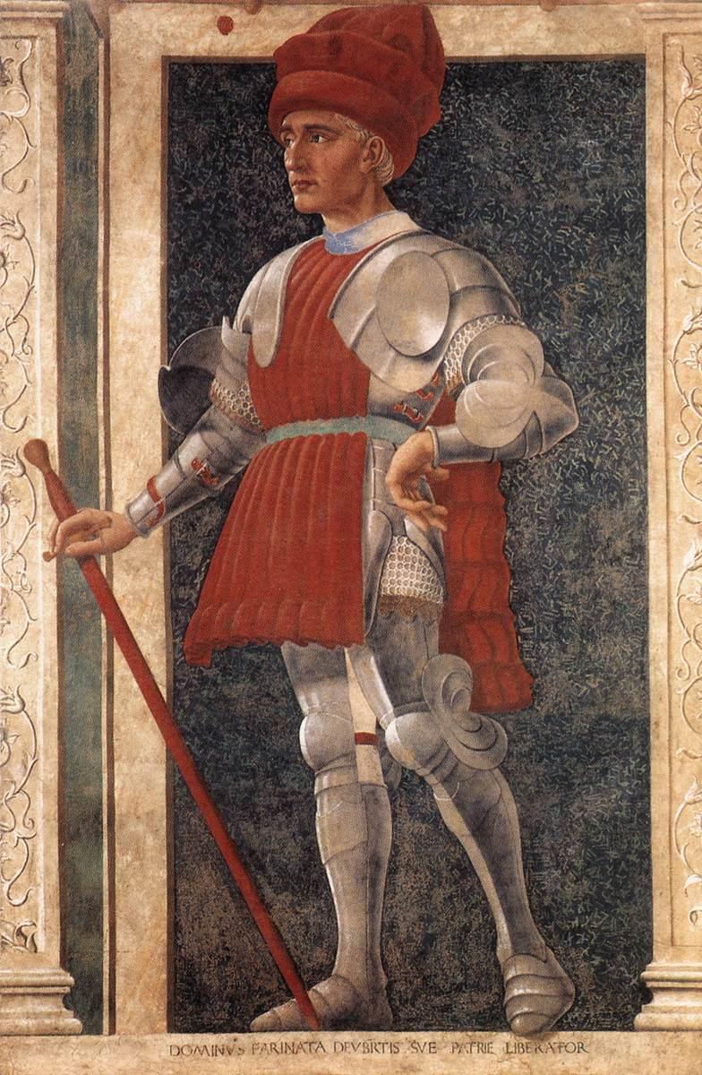 Famous Persons Farinata degli Uberti | Andrea Del Castagno | Oil Painting