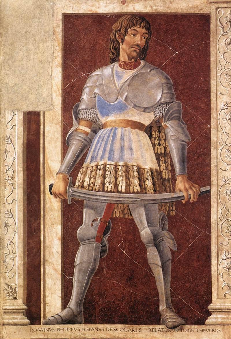 Famous Persons Pippo Spano | Andrea Del Castagno | Oil Painting