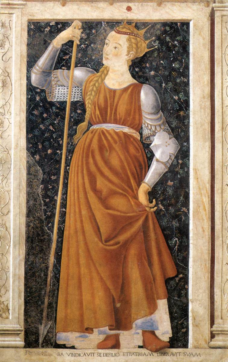Famous Persons Queen Tomyris   Andrea Del Castagno   Oil Painting