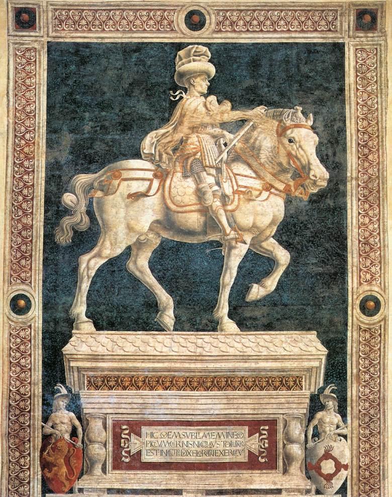 Monument to Niccolo da Tolentino | Andrea Del Castagno | Oil Painting