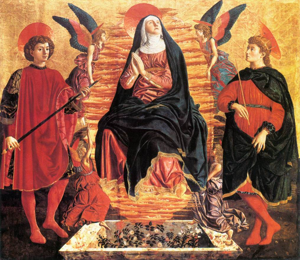 Our Lady of the Assumption with Sts Miniato and Julian | Andrea Del Castagno | Oil Painting