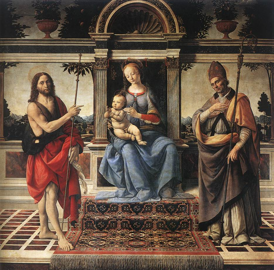 Madonna with Sts John the Baptist and Donatus | Andrea Del Verrocchio | Oil Painting