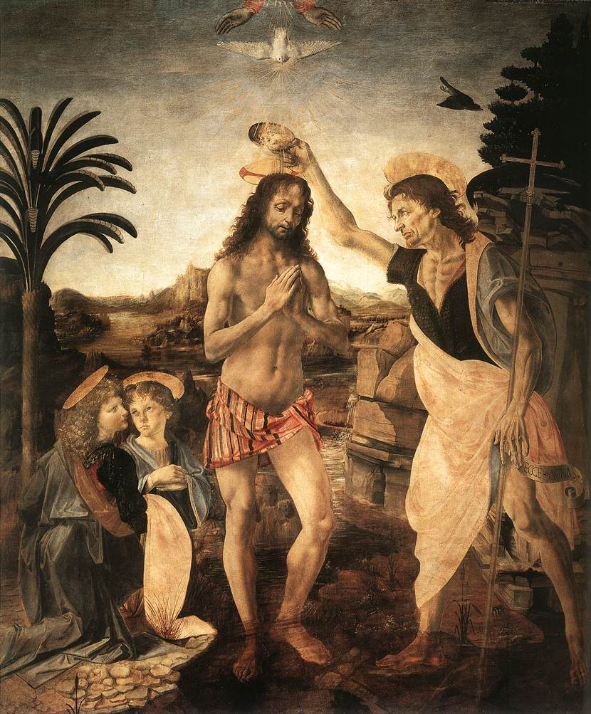 The Baptism of Christ | Andrea Del Verrocchio | Oil Painting