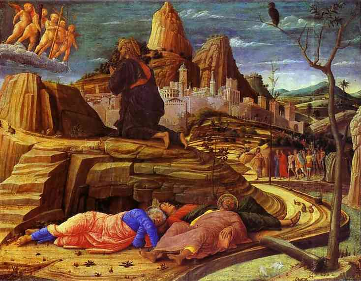 Agony In The Garden 1455 | Andrea Mantegna | Oil Painting
