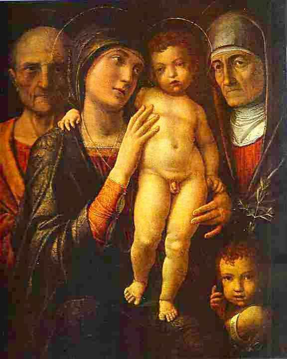Holy Family With St Elizabeth And St John The Baptist As A Child 1495-1500 | Andrea Mantegna | Oil Painting