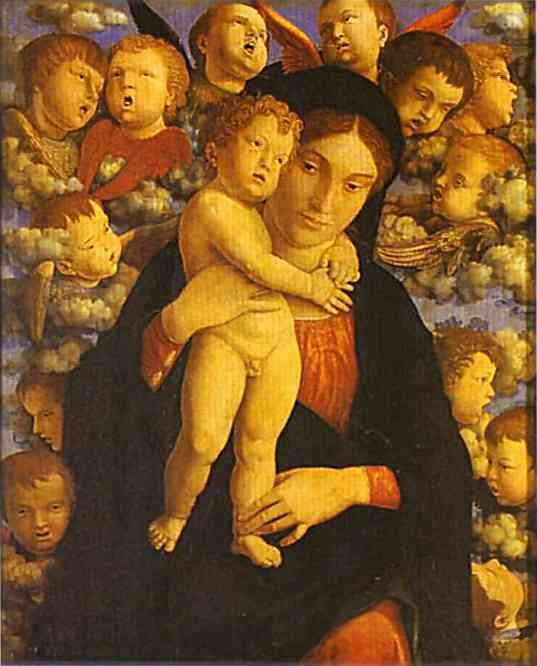 Madonna With Child And Angels 1485 | Andrea Mantegna | Oil Painting