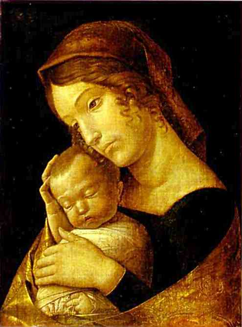 Madonna With Sleeping Child 1465-70 | Andrea Mantegna | Oil Painting