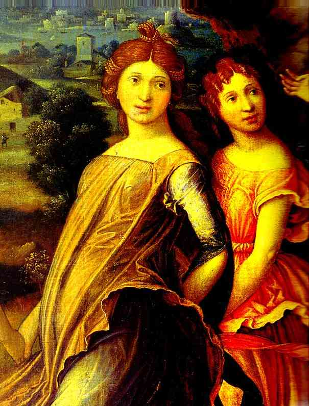 Mars And Vernus Known As Parnassus Detail 1 Louvre Paris France | Andrea Mantegna | Oil Painting