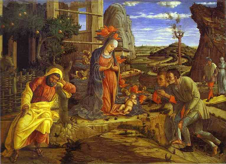 The Adoration Of The Shepherds The Metropolitan | Andrea Mantegna | Oil Painting