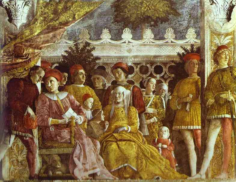 The Gonzaga Family And Retinue Detail 1 1465-74 | Andrea Mantegna | Oil Painting