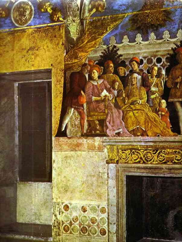 The Gonzaga Family And Retinue Detail 2 1465-74 | Andrea Mantegna | Oil Painting