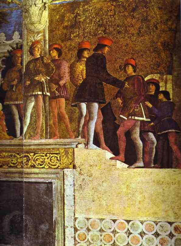 The Gonzaga Family And Retinue Detail 3 1465-74 | Andrea Mantegna | Oil Painting