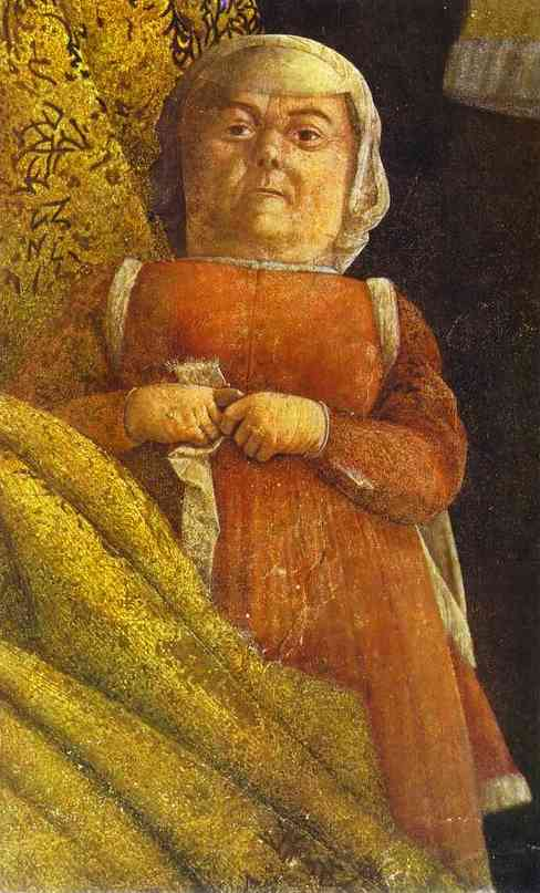 The Gonzaga Family And Retinue Detail 4 1465-74 | Andrea Mantegna | Oil Painting