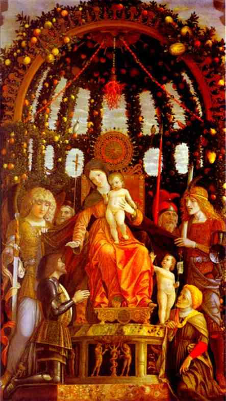 Virgin And Child Surrounded By Six Saints And Gianfrancesco Li Gonzaga Known As The Madonna Of Victory 1495 | Andrea Mantegna | Oil Painting
