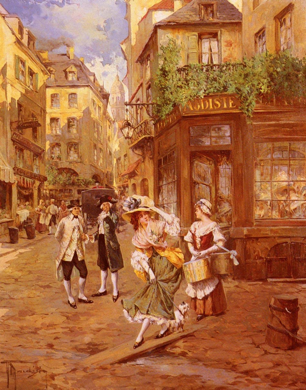 Chez La Modiste   Andrea Marchisio   Oil Painting