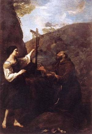 St Francis Marrying Poverty 1633 | Andrea Sacchi | Oil Painting