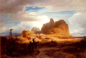 Oswald Don Quixote and Sancho Panza | Andreas Achenbach | Oil Painting