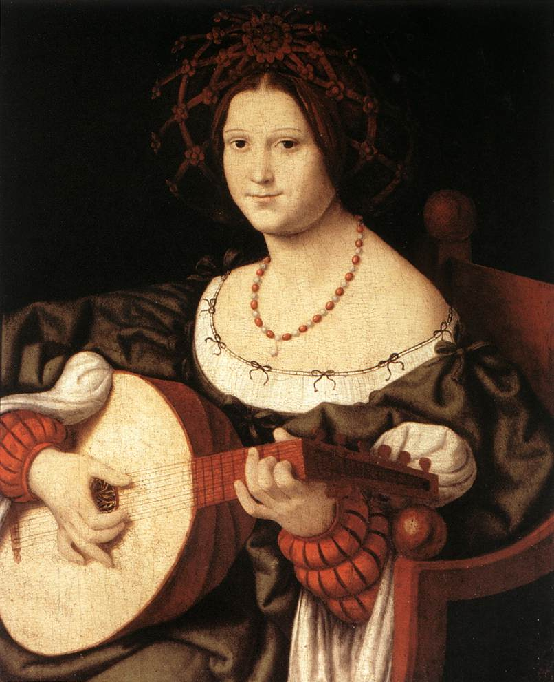 The Lute Player | Andrea Solario | Oil Painting