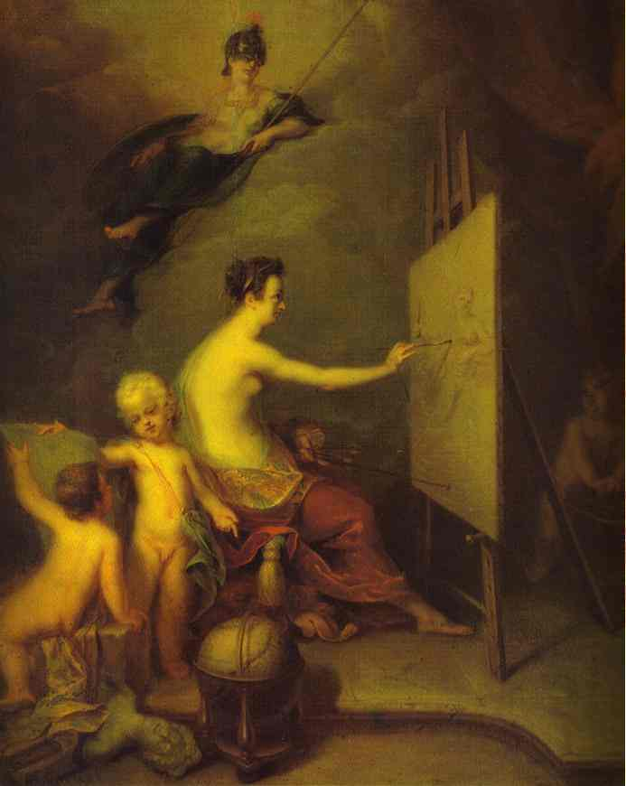Allegory Of Painting 1725 | Andrey Matveev | Oil Painting