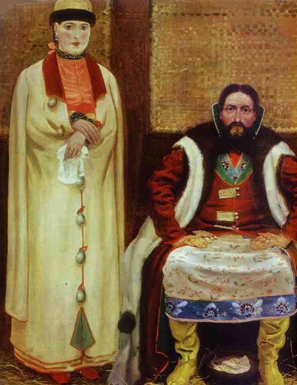 A Merchant Family In The XVII Century Detail 1896 | Andrey Ryabushkin | Oil Painting