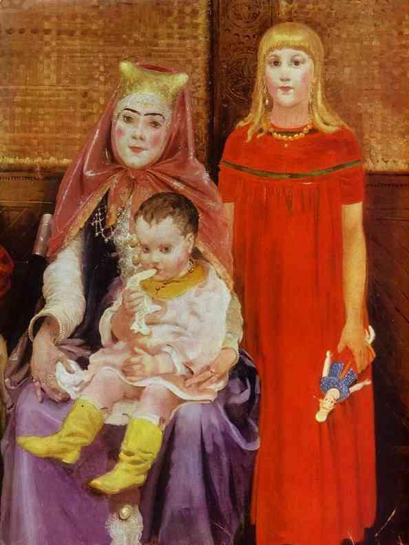 A Merchant Family In The XVII Century Detail 2 1896 | Andrey Ryabushkin | Oil Painting