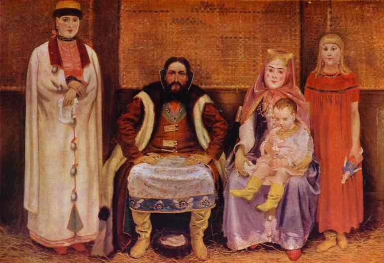 A Merchant Family In The XVII Century Detail 3 1896 | Andrey Ryabushkin | Oil Painting