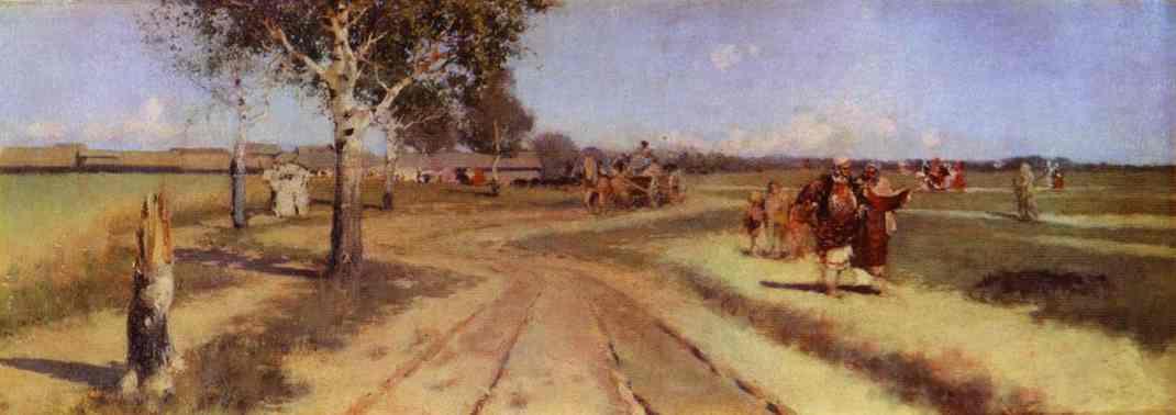 Coming Back From Fair 1886 | Andrey Ryabushkin | Oil Painting