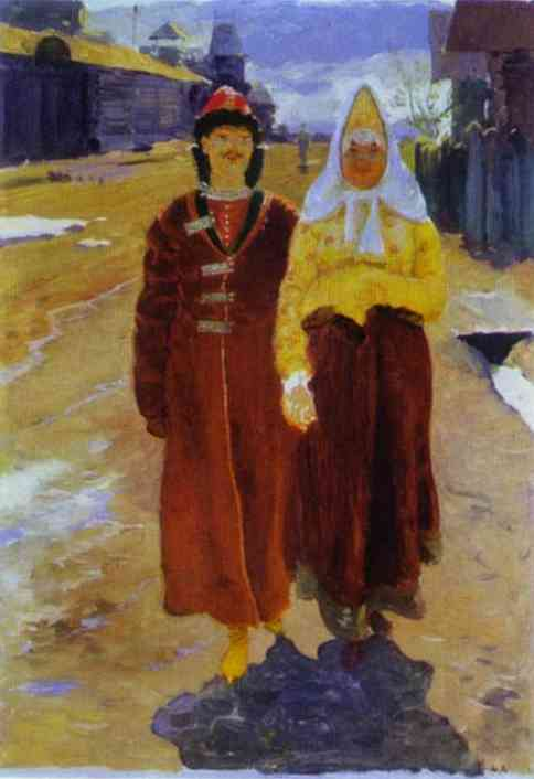 Going On A Visit 1896 | Andrey Ryabushkin | Oil Painting