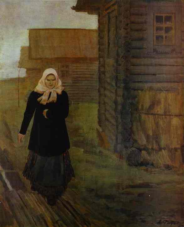In A Village Going To Liturgy 1903 | Andrey Ryabushkin | Oil Painting