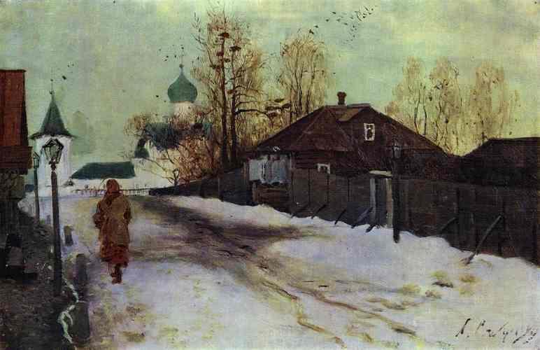 Mikhailovsky Street In Novgorod 1899 | Andrey Ryabushkin | Oil Painting