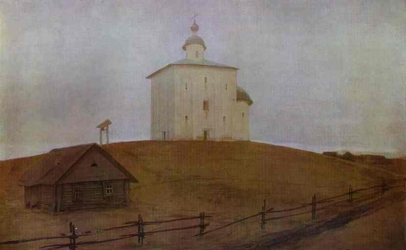 Novgorod Church 1903 | Andrey Ryabushkin | Oil Painting