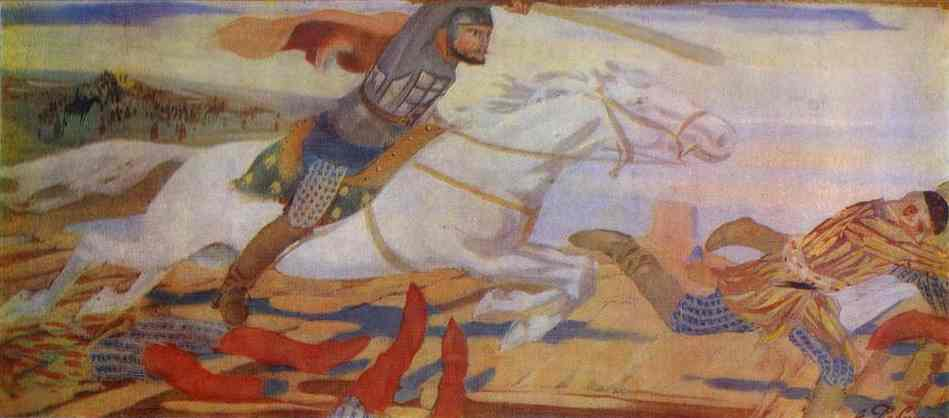 Prince Ukhtomsky In The Battle With Tartars At Volga In 1469 1904 | Andrey Ryabushkin | Oil Painting