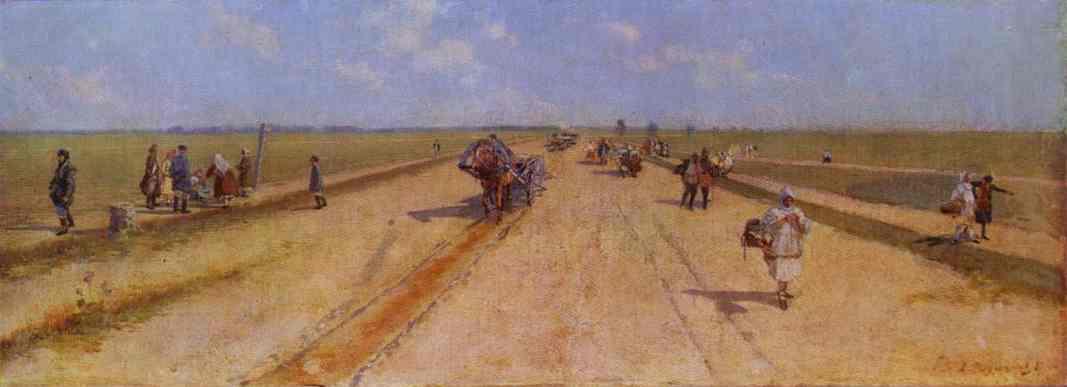 Road 1887 | Andrey Ryabushkin | Oil Painting
