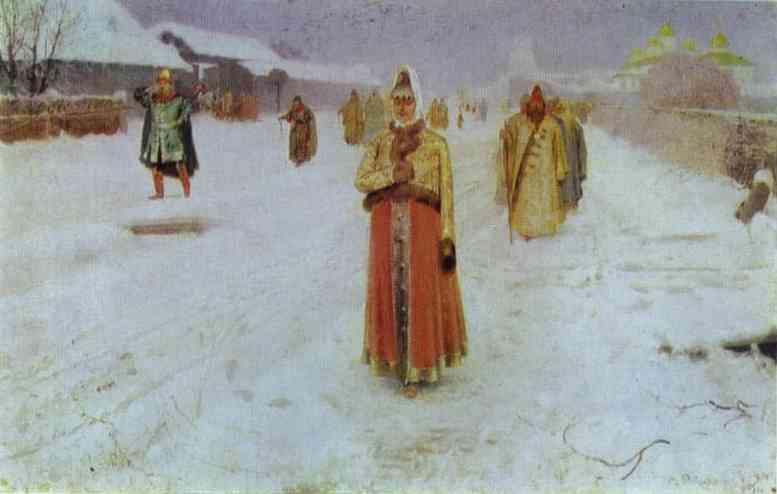 Sunday 1889 | Andrey Ryabushkin | Oil Painting