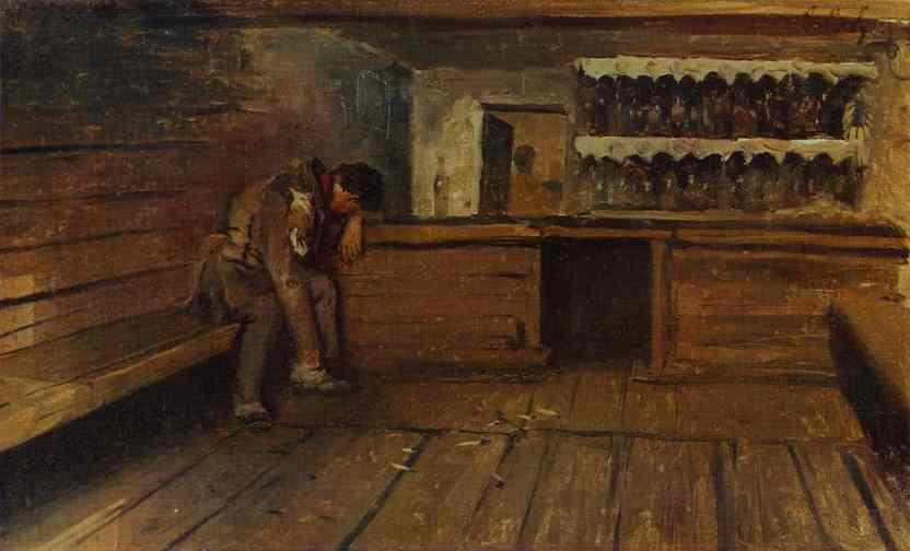 Tavern 1891 | Andrey Ryabushkin | Oil Painting