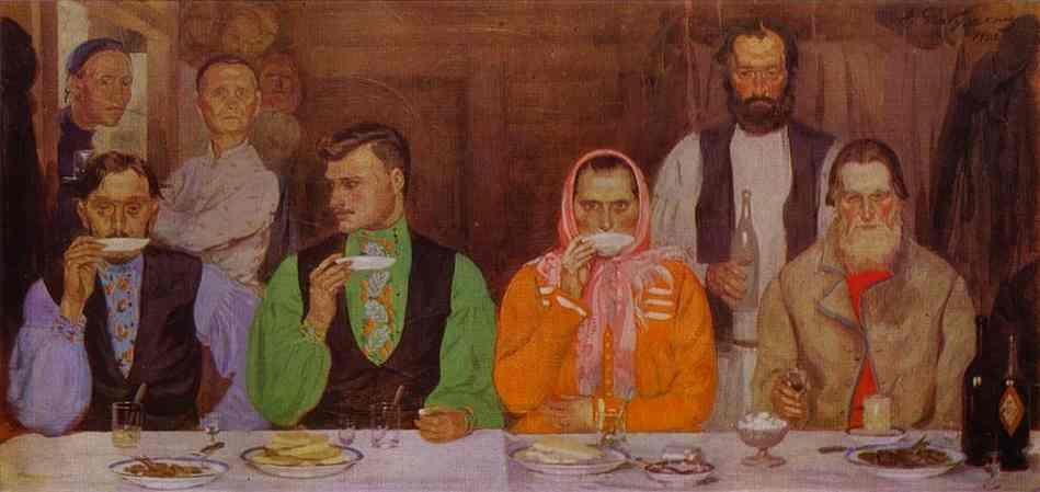 Tea Drinking 1903 | Andrey Ryabushkin | Oil Painting