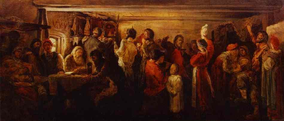 Village Wedding In The Tambov Province 1880s | Andrey Ryabushkin | Oil Painting