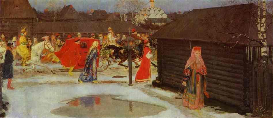 Wedding Train In The  XVII Century Moscow 1901 | Andrey Ryabushkin | Oil Painting