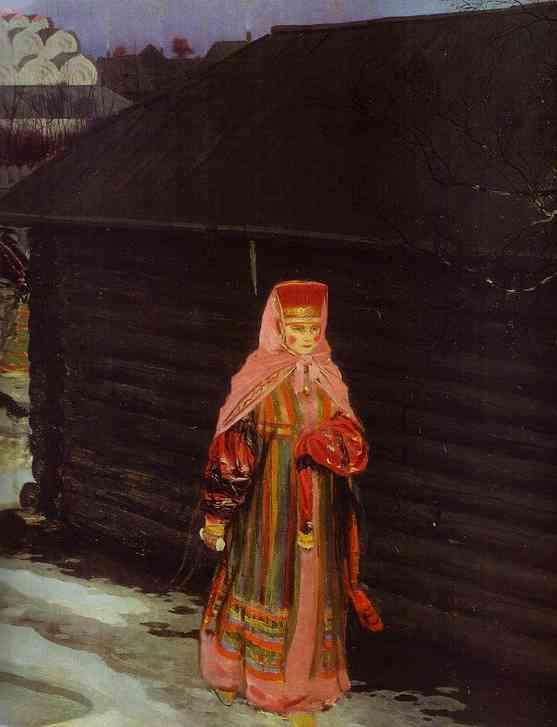 Wedding Train In XVII Century Moscow Detail 1901 | Andrey Ryabushkin | Oil Painting