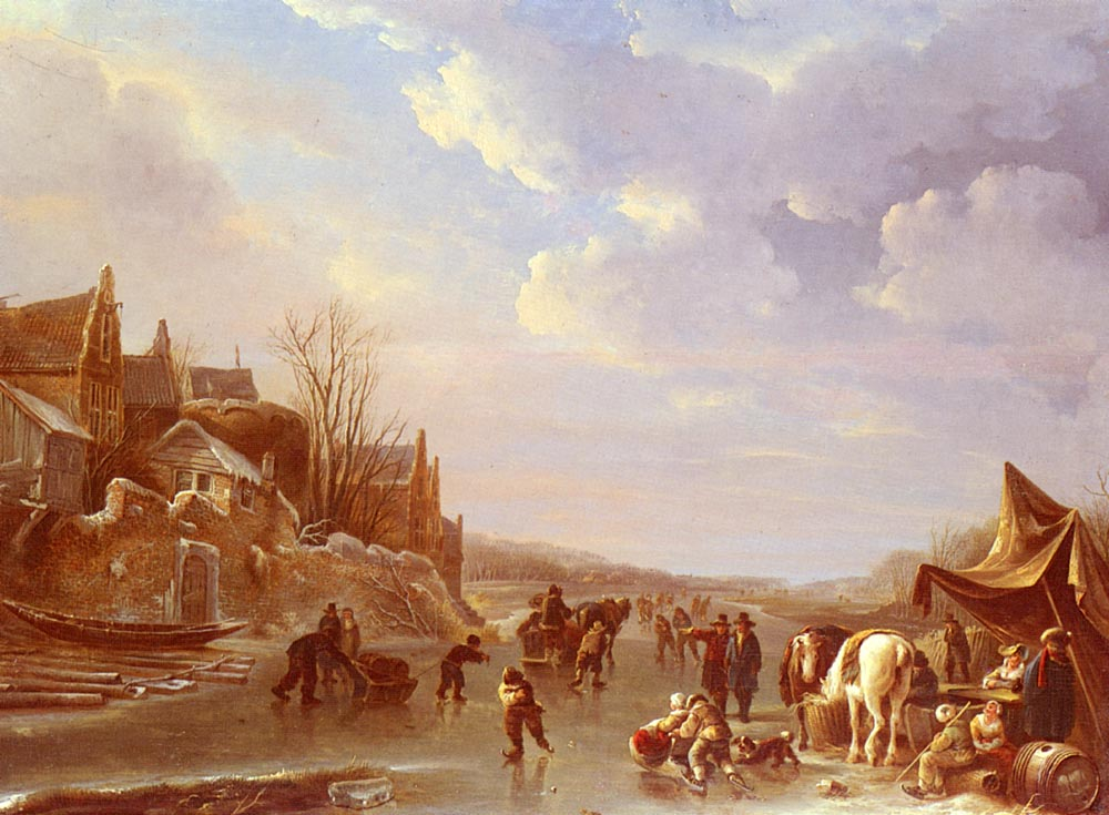 A Winter Scene In Holland | Andries Vermeulen | Oil Painting