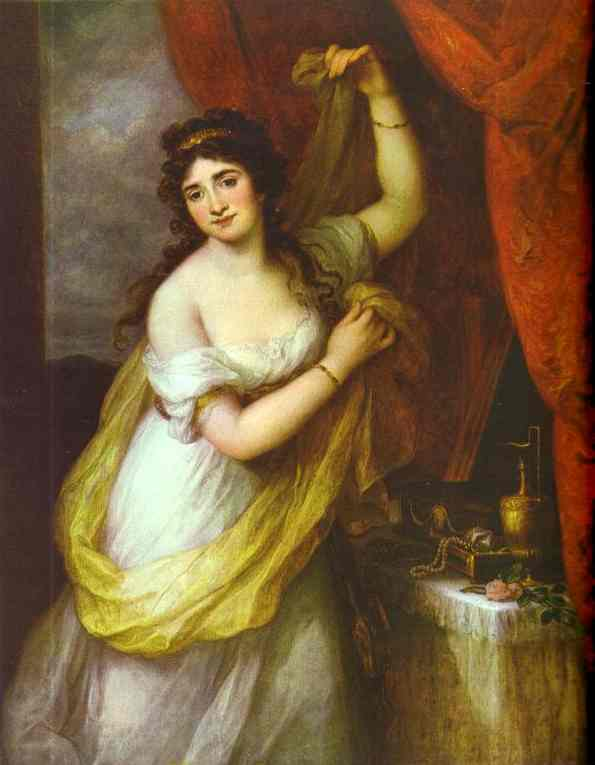 Portrait Of A Woman (Presumably Of Duchess Esterhazi) 1795 | Angelica Kauffman | Oil Painting
