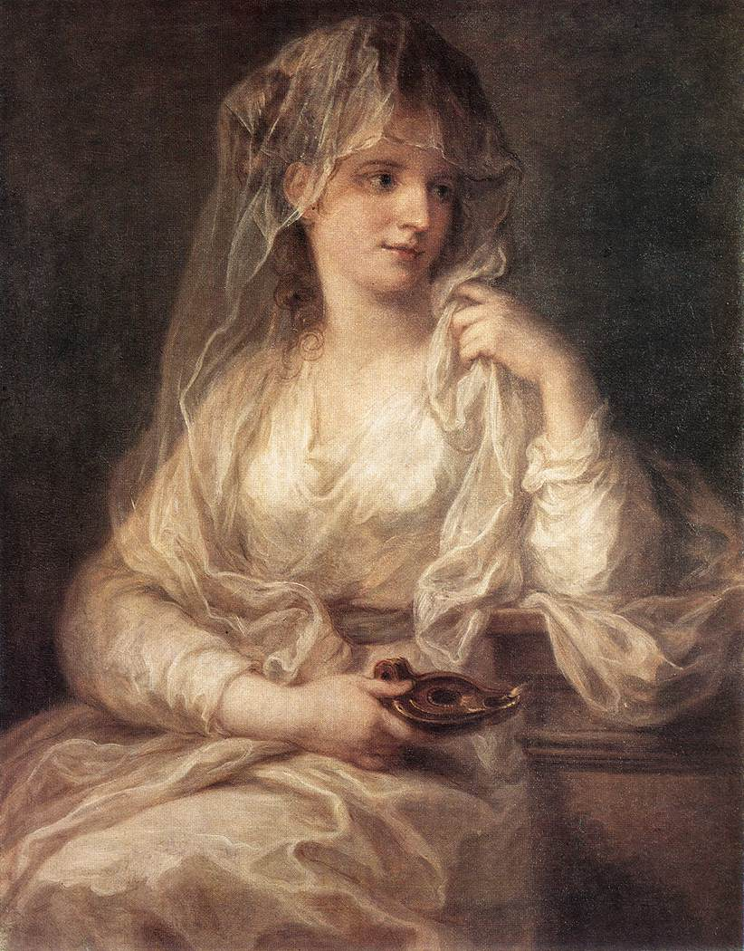Portrait Of A Woman Dressed As Vestal Virgin | Angelica Kauffman | Oil Painting