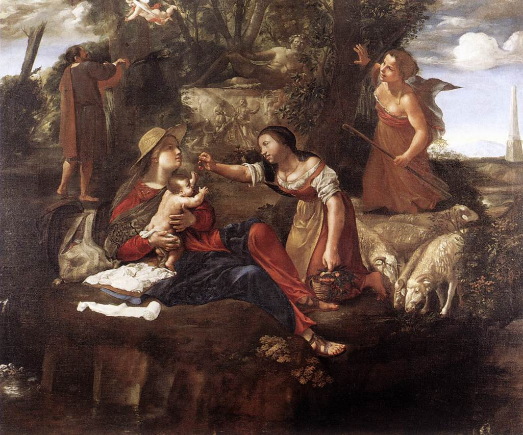 Rest On The Flight Into Egypt 1630-45 | Angelo Caroselli | Oil Painting