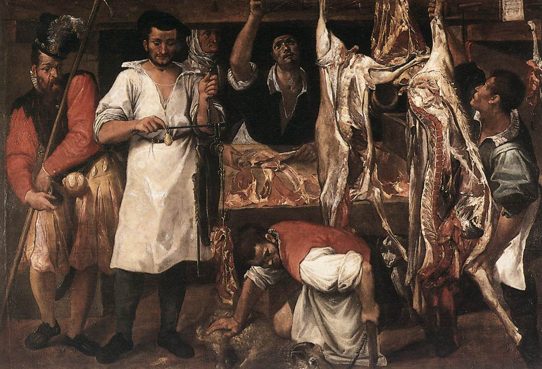 Butchers Shop 1580s | Annibale Carracci | Oil Painting