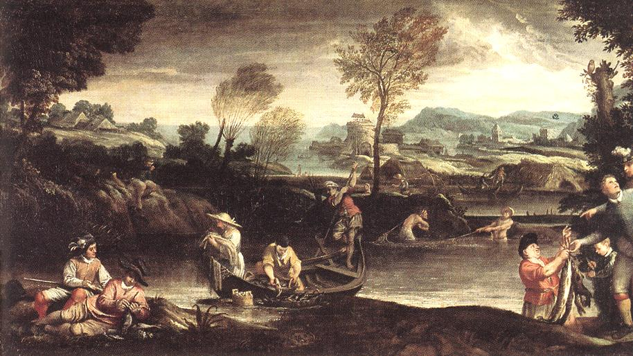 Fishing Before 1595 | Annibale Carracci | Oil Painting