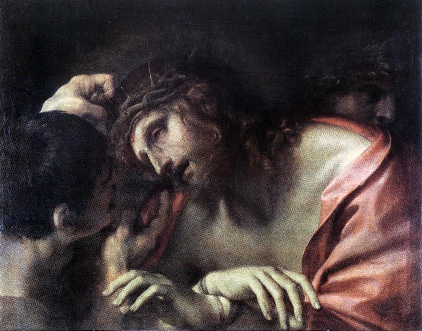Mocking Of Christ 1596   Annibale Carracci   Oil Painting