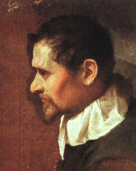 Self Portrait In Profile 1590s Galleria Degli Uffizi Florenc | Annibale Carracci | Oil Painting